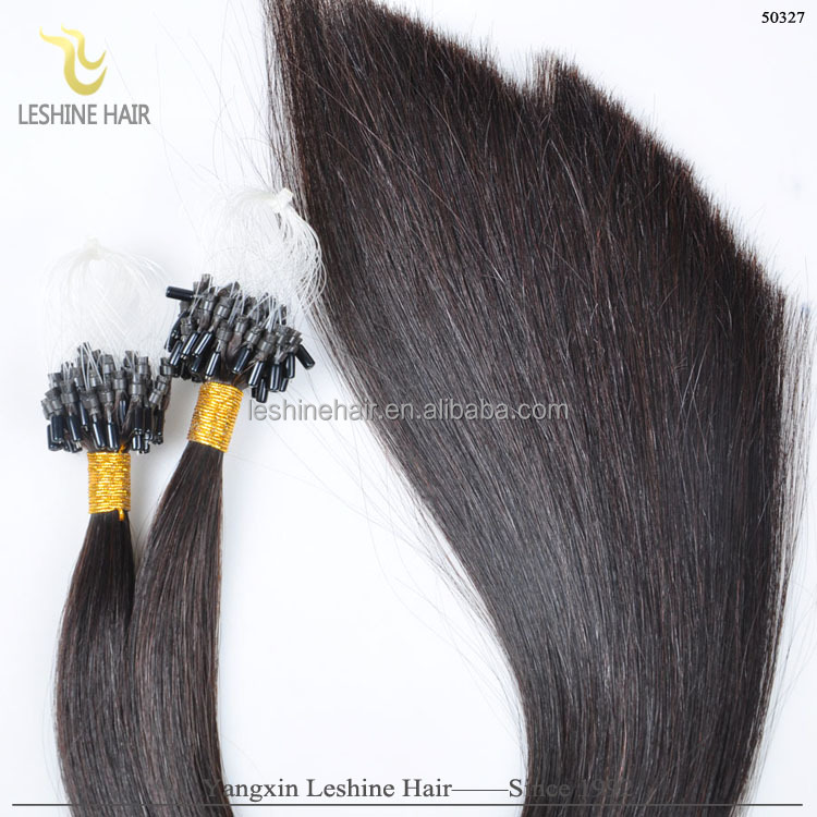 Top Grade Hair For Black Lady Factory Price Wholesale Indian Remy Micro Loop Ring Hair Extension