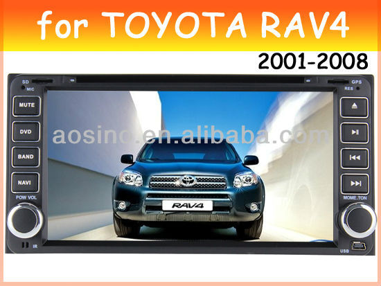car dvd player for TOYOTA universal TOYOTA RAV4 2001-2008 car radio car audio with gps navigation