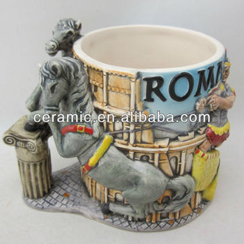 newest embossed ceramic cup ceramic souvenir mug