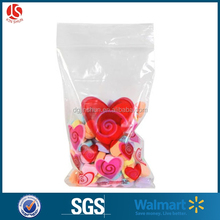 Valentine's Day HEART Cello Zip Bags Red / Pink Candy Treat Gift bag