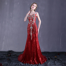 Guang zhou factory price alibaba last style handmade trailing red lace satin long ladies gown mermaid wedding dress