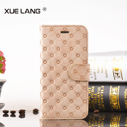 Book Style PU Leather Phone Case for huawei p6