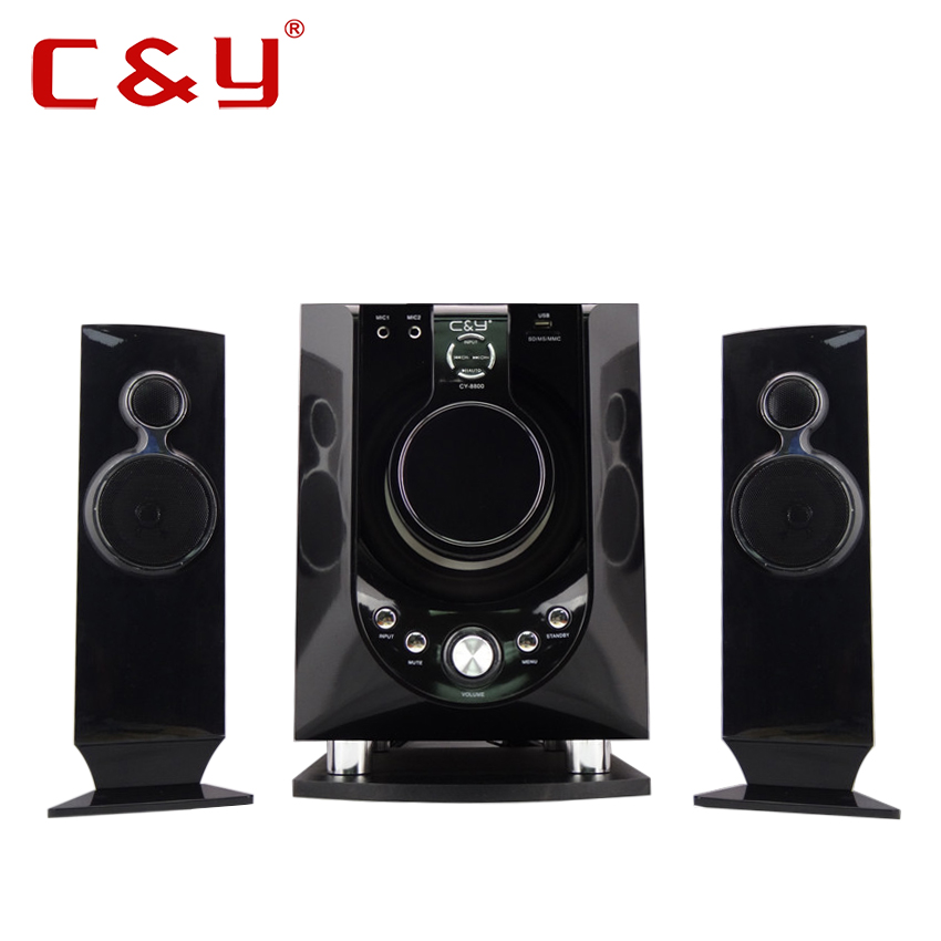 China manufacturer CY 8800 2.1 Fm Radio sound system MP3 speaker box with USB port