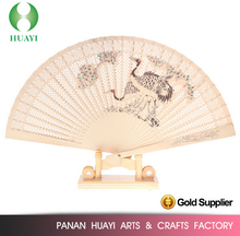 Customise printed spanish wooden hand fans for gift