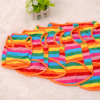pure cotton pet dog sleeveless clothes rainbow stripe pet dog t-shirts factory