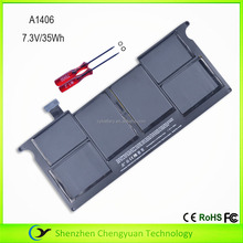 "A1406 Li-Polymer Laptop Battery for Macbook Air 11"" A1370(2011 version) A1465(2012 version) 7.3V 35Wh"