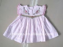 Cotton hand smocked & embroidery dress