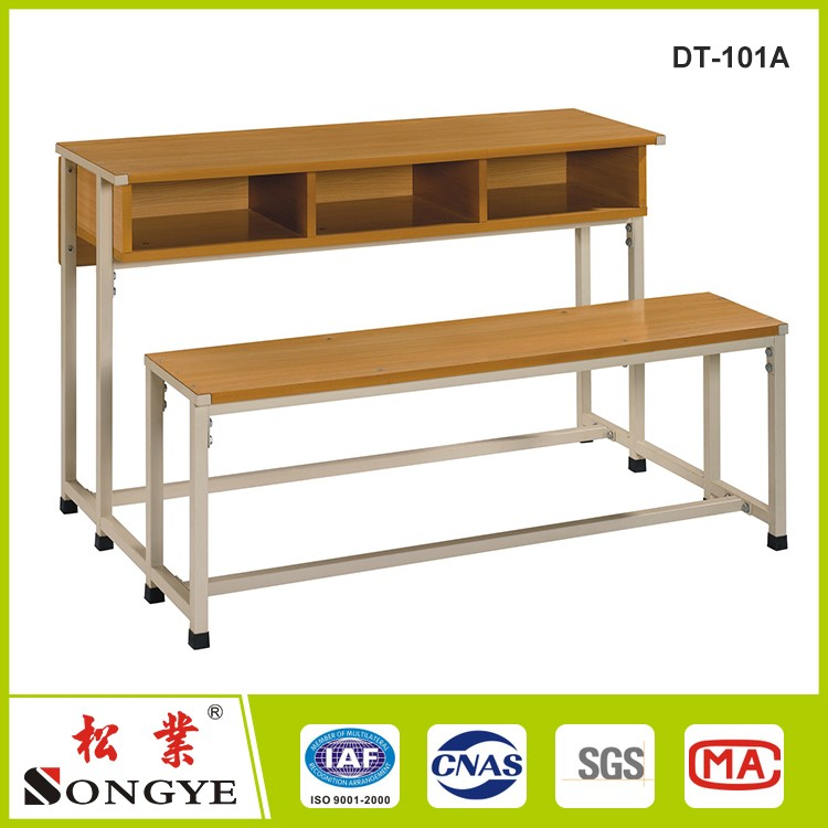 School Furniture Classroom Bench 3 Person Student Desk and 3 Person Chair