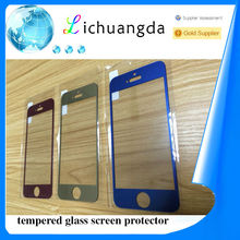 factory price 9H color tempered glass screen protector for iphone 5