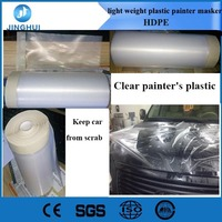 Clear painter's plastic