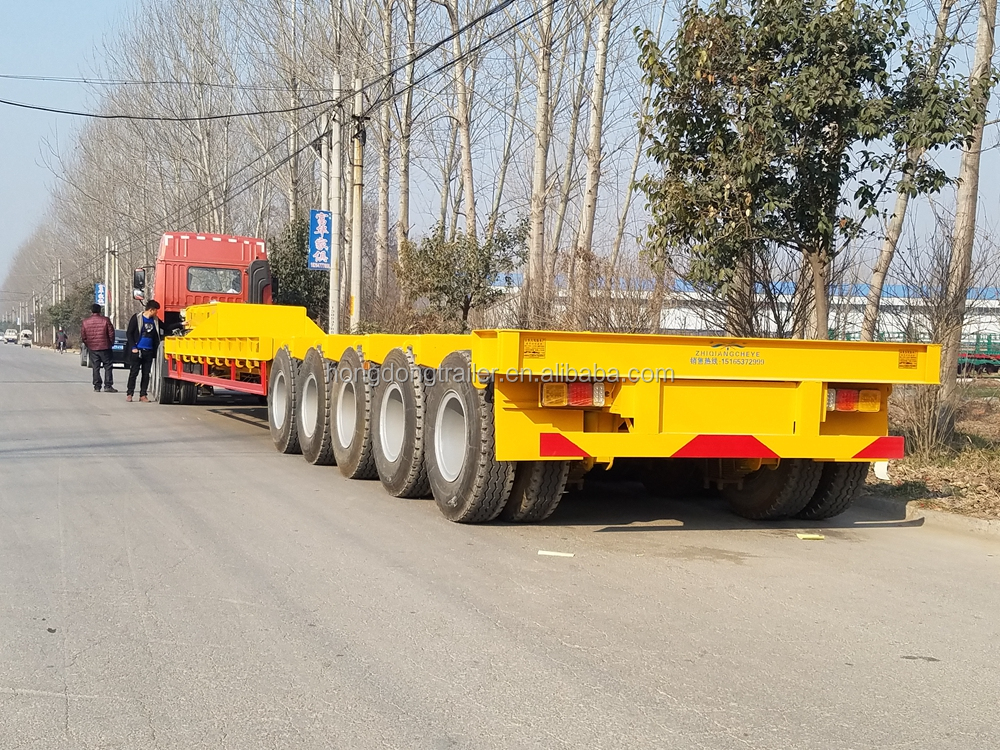 new style transport heavy equipment trailer gooseneck low bed with good material