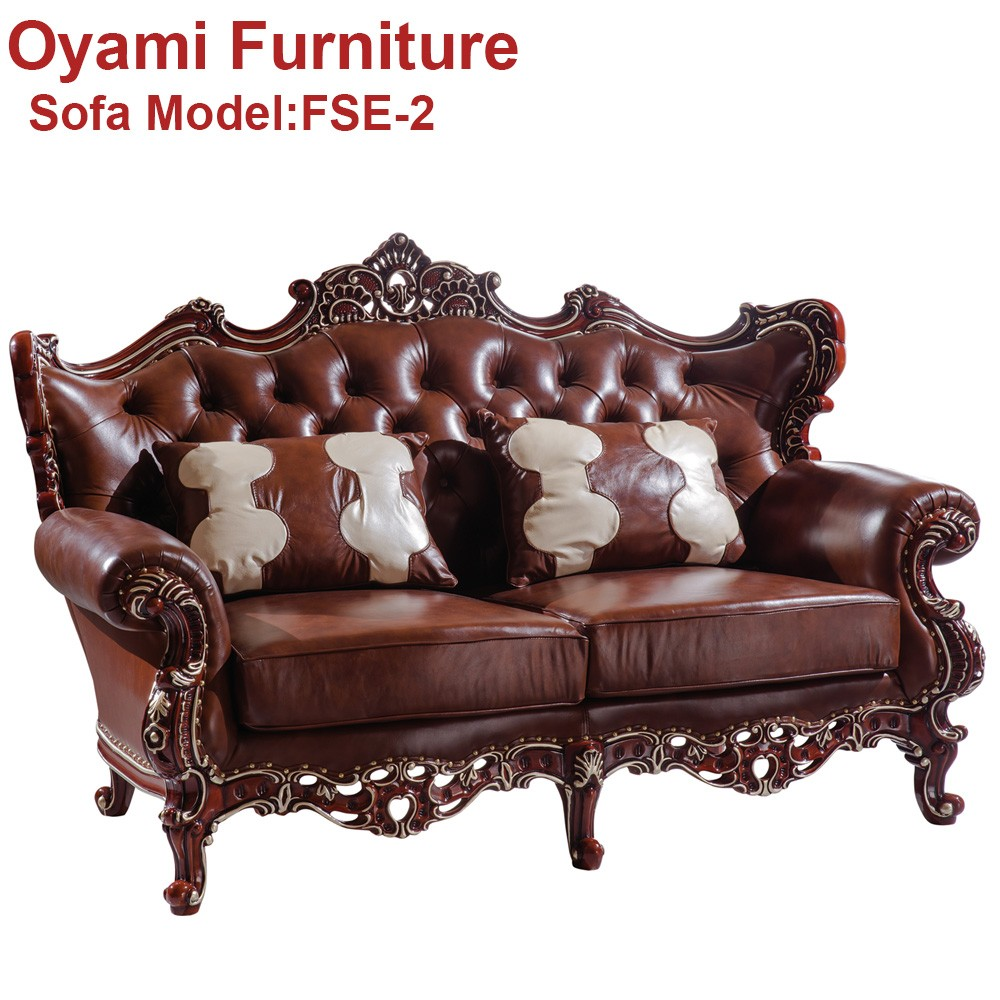 Novel design New fashioned real leather Contemporary royal furniture sofa set