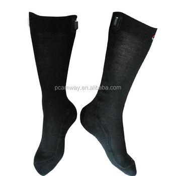 AA battery heated socks for hunting