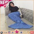90x180cm adult 100% acrylic vivi mermaid fin fun blanket