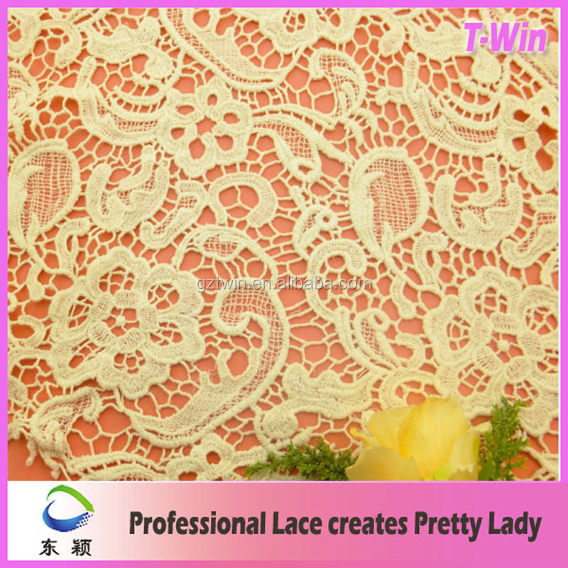 100 cotton white floral lace fabric elegant lace fabric for wedding dress