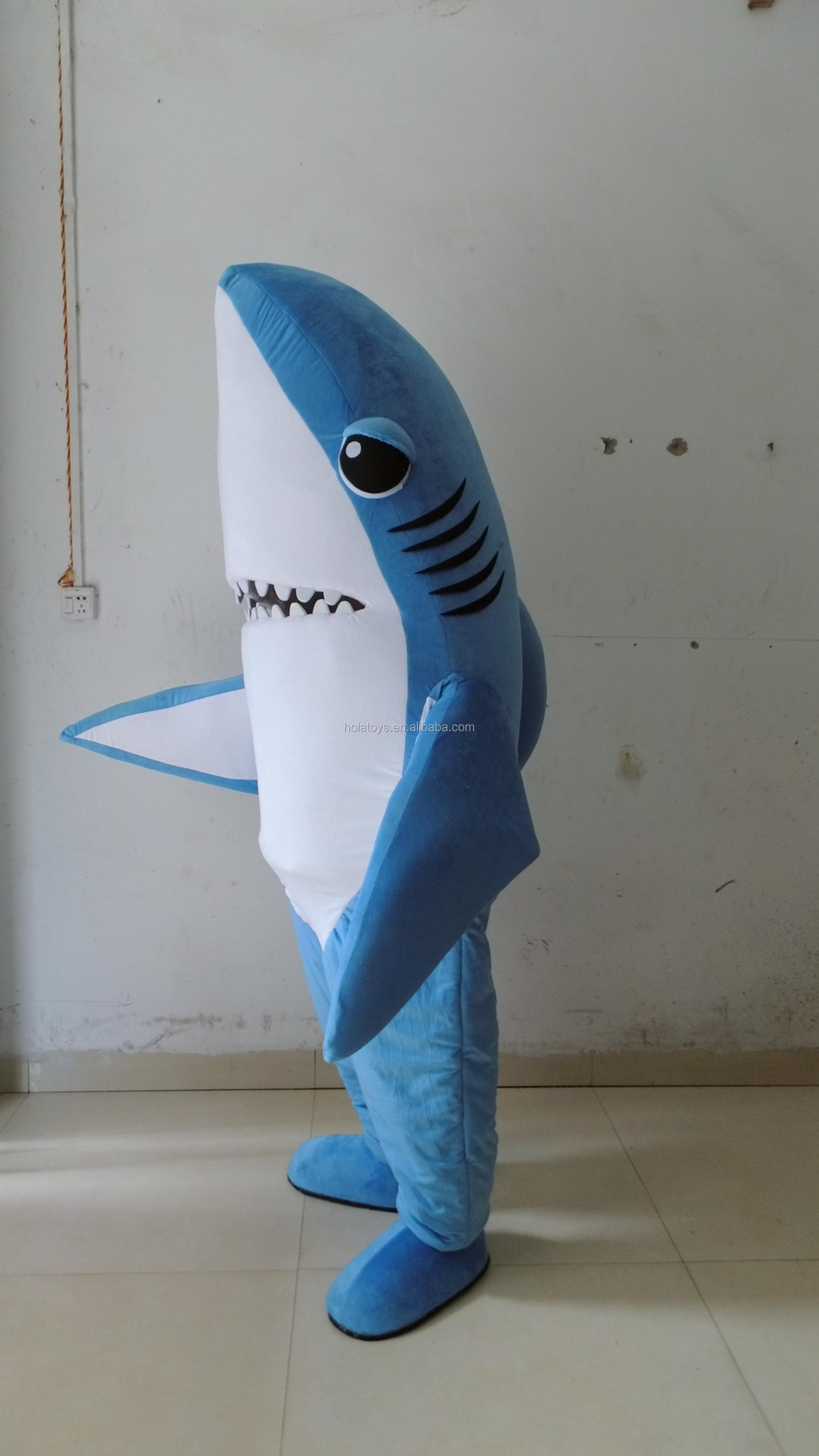 HOLA blue shark mascot costume/adult mascot costume for sale