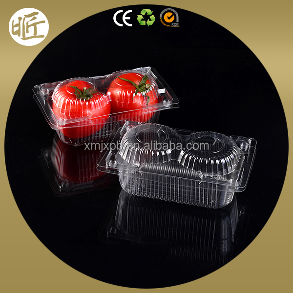 Promotional clear plastic recycled strawberry packaging box