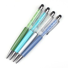 High quality metal crystal stylus pen crystal ball pen with diamond