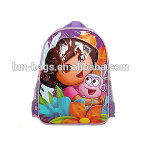 PVC printing Dora design cartoon backpack for kids