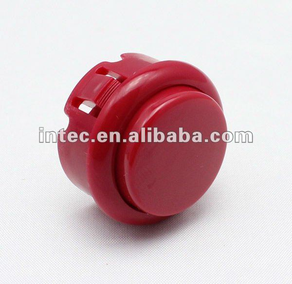 30mm red plastic push button switch Momentary arcade game machine push button