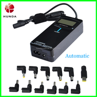 LED Universal Laptop Adapter, 2 in 1, for home and car, automatic tips, with lcd display, usb port.