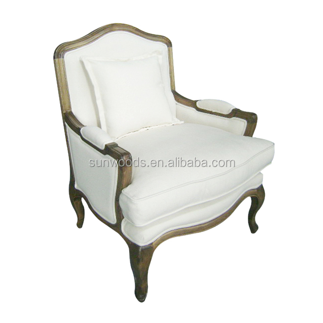 Best Price essential high quality home furniture baroque french style dining white solid wooden chair