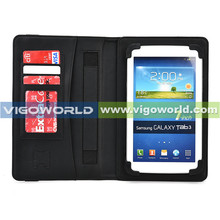 PU leather case 8 inch with Hand strap and card holders universal for tablet