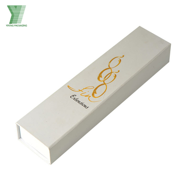 Custom Matt White Paper Hair Extension Packaging Box