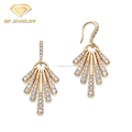 Latest Design Women Top 925 Sterling Silver Chandelier Earring Fashion Jewelry