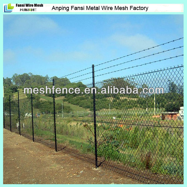 50mmx50mm mesh pvc coated cyclone wire fence