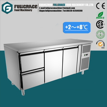 multifunctional 400L refrigerated sandwich counter/pizza worktable/food refrigerator with two drawers
