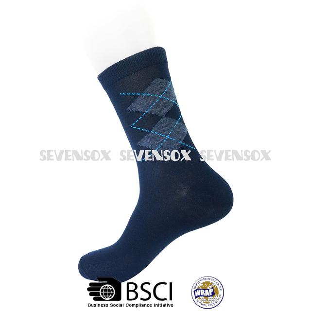 2017 Mens dress Socks diamond design mix colour hot selling socks comfortable Socks Cotton
