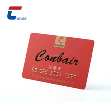 custom printing embossed number hard plastic business cards gold stamp/Printed Membership Plastic Cards
