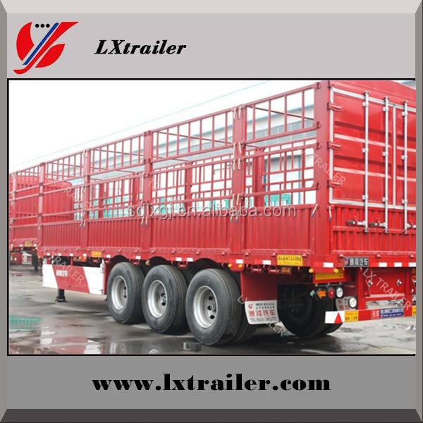 Tri-axle fence type store house bar semi trailers use high tensile steel