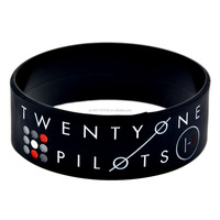 Promo Gift Wide Band Twenty One Pilots Silicon Bracelet for Music F