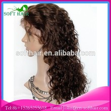 Qingdao soft hair 6a+++ grade 100% unprocessed wholesale full lace wig for beautiful women