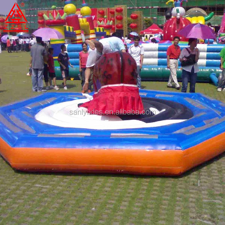 Bull riding machine inflatable mechanical bull for park