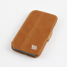 5 Inch Genuine Leather Mobile Phone Back Cover for Samsung Galaxy S4 Case