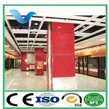 Outdoor train station high ceiling curtains