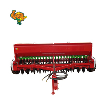 Trailing linkage 36 row double disc wheat rice drum seeder for sale