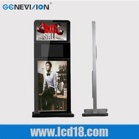 Triple screens Stand alone digital Wifi Network Lcd Totem Signage