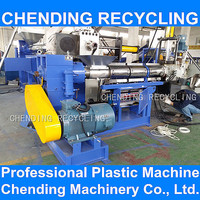 CHENDING 100-500kg/hour pp pe ldpe films bags compactor water ring plastic granulation making recycling plant with CE standered