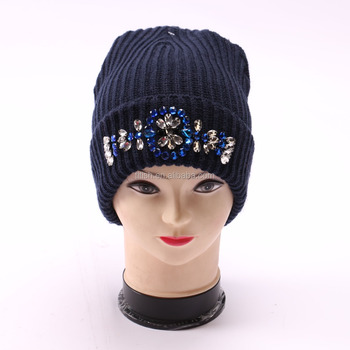 Good design with strass beanie hat