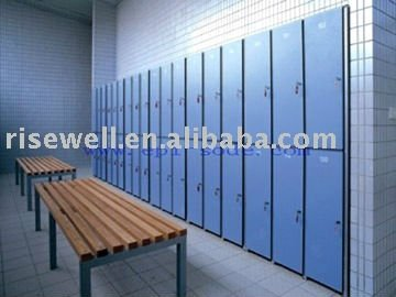 high density  hpl shopping mall   lockers
