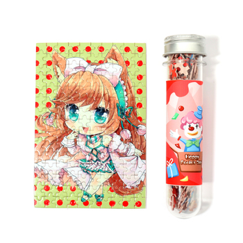 High quality VOGRACE cheap OEM cartoon anime custom tube puzzle printing wooden jigsaw photo puzzles for children educational