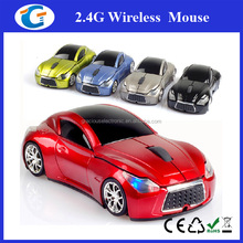 Mini wireless car shaped mouse with blue headlight