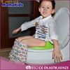 plastic baby potty with lid, colorful baby potty, kids safety portable potty