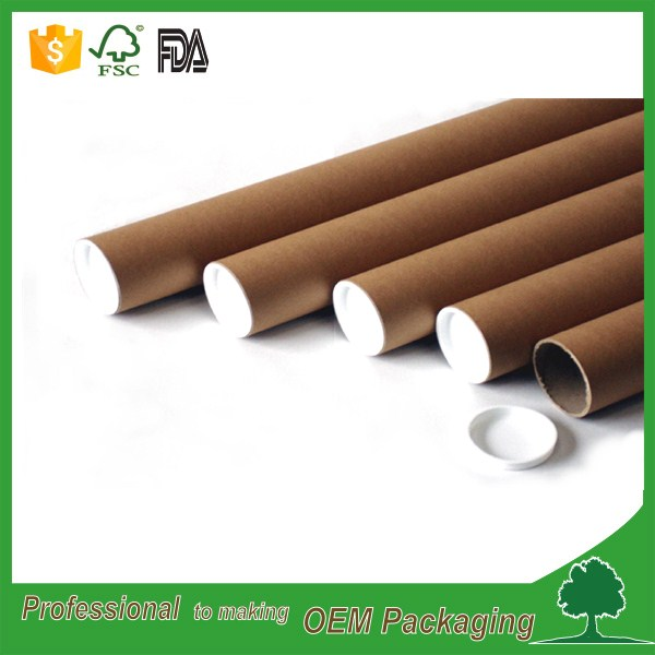 plastic end cap craft material small mailing tubes shipping round tube box factory direct sale price
