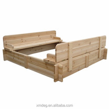 Wooden outdoor furniture Sandbox and Wood Sandpit With Benches