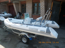 CE RIB390 boat fiberglass hull inflatable boat cabin hypalon rib for sale